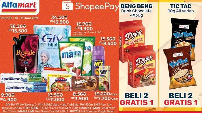 UPDATE Promo Alfamart Rabu 9 Juni 2021, Promo ShopeePay dan GoPay Hadir Lagi, ada Promo Gratis