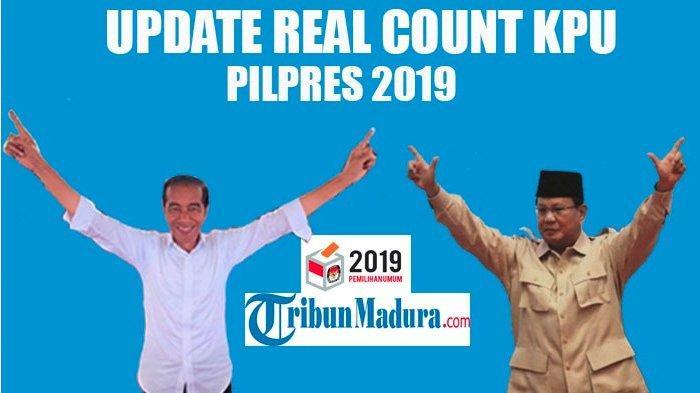 Menang Tebal di Jatim, Real Count KPU Hingga Jumat 26/4/2019 Selisih Suara Jokowi Vs Prabowo 12,20%
