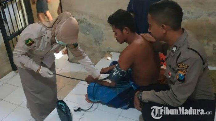 Urdokkes Polres Pamekasan Lakukan Pemeriksaan Kesehatan Para Tahanan, Cegah Tahanan Sakit dan Kabur
