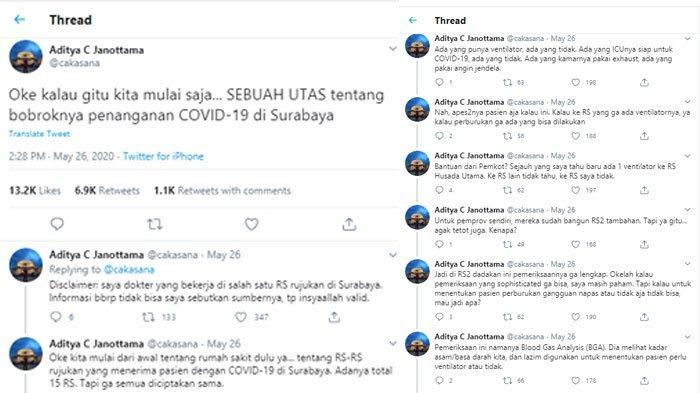 Viral Utas Twitter Bongkar 'Borok' Penanganan Covid-19 di Surabaya, 'Let's Say, Close to Nothing'