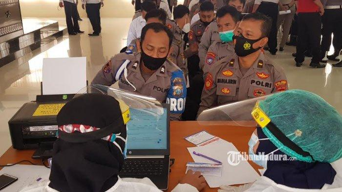 Polres Sumenep Gelar Vaksinasi Covid-19 Massal, Ada 400 Anggota Polisi yang Divaksin Corona