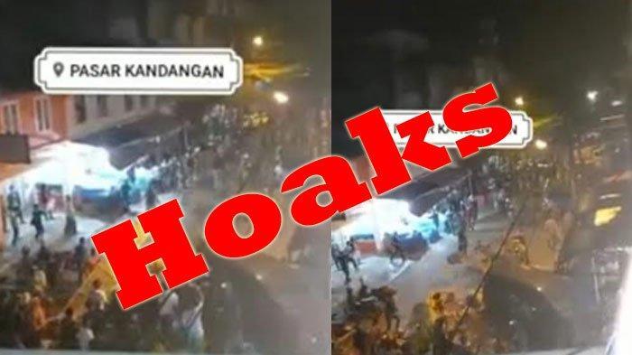 Video Ricuh Di Pasar Kandangan Antara Vs Petugas Bukan Di Surabaya, Polrestabes Surabaya: Hoaks