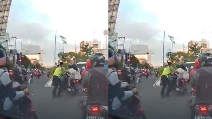 Fakta Video Polantas Dorong Pemotor hingga Jatuh di Semarang, Simak Penjelasan Perekam dan Polisi