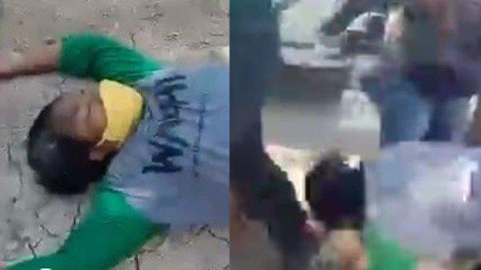 Video Viral, Ibu Dicekik dan Dibanting oleh Preman Hingga Pingsan, ada Oknum Satpol PP Juga Ikut