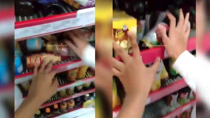 Viral Video di Instagram (IG) Remaja Mengacak-Acak Kulkas Minimarket, Pelaku Nangis Minta Maaf
