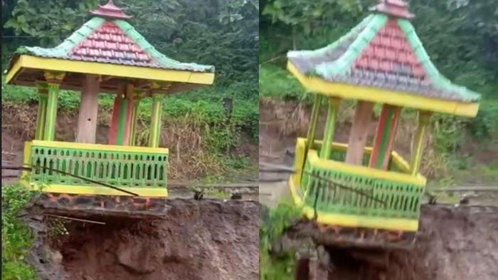 BREAKING NEWS: Viral Video Detik-detik Bangunan Tempat Kentongan Roboh Diterjang Banjir di Kediri