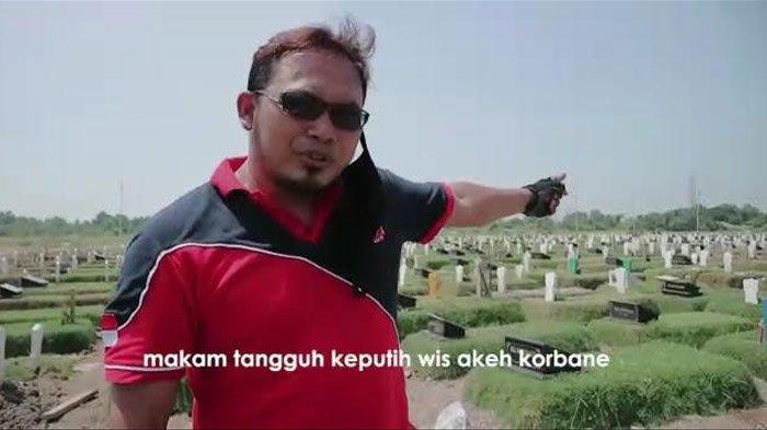 Lewat Video Berlatar Makam Covid-19, Polsek Sukolilo Surabaya Ingatkan Warga Tak Mudik Lebaran 2021