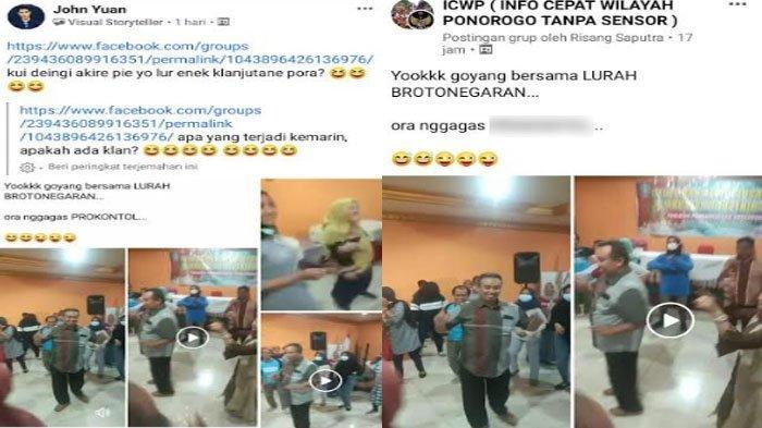 Viral di Medsos, Video Lurah di Ponorogo Joget Tanpa Protokol Kesehatan, Camat Beri Klarifikasi