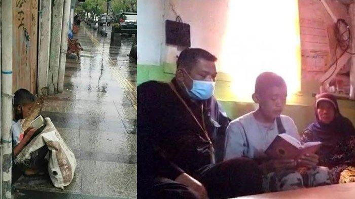 Viral Foto Pemulung Mengaji di Pinggir Jalan Saat Hujan, Akbar tak Menyangka, ini Harapan Akbar