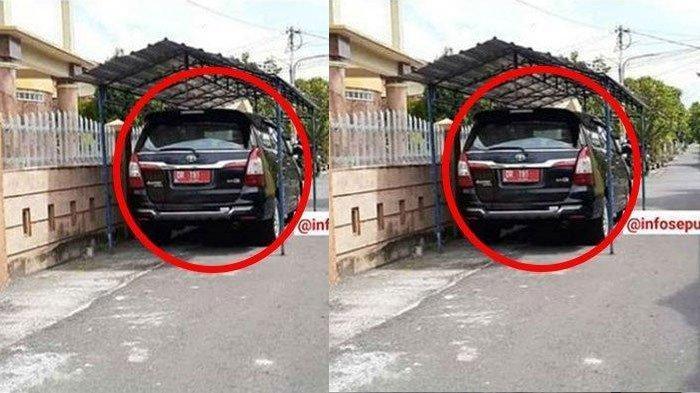 VIRAL Pejabat Bikin Garasi di Jalan Umum, Mobil Innova Tampak Parkir, Dishub dan Camat Turun Tangan