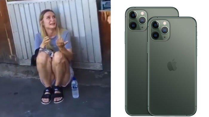 Viral Bule Asal Rusia Nangis di Depan Warung Makan Setelah Dijambret, iPhone 11 Max Pro Raib