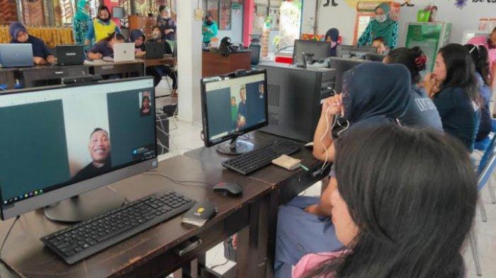 Narapidana Perempuan Lapas Sukun Kota Malang Hanya Bisa Lebaran Bareng Keluarga Lewat Video Call
