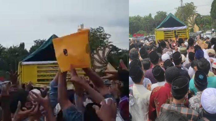Partai Golkar Sumenep Bagi Sarung ke Warga, Diduga Tak Berizin Hingga Picu Kerumunan, Ditegur Polisi