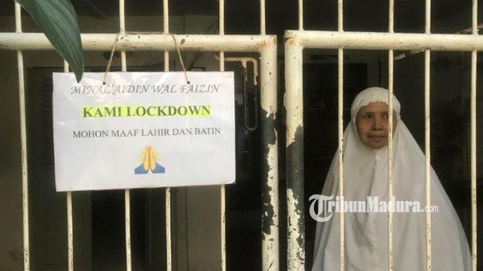Suasana Lebaran di Karangrejo Sawah, Warga Tak Terima Tamu, Buat Tulisan 'Mohon Maaf Kami Lockdown'