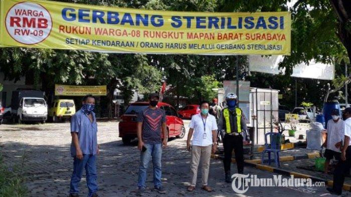 Maksimalkan PSBB, Warga Perkampungan di Surabaya Wajib Disiplin Patuhi Protokol Pencegahan Covid-19