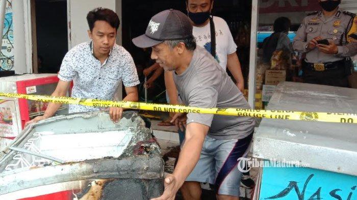 Belum Dibuka, Toko Kelontong di Malang Terbakar, Polisi dan Warga Berduyun-Duyun Padamkan Api