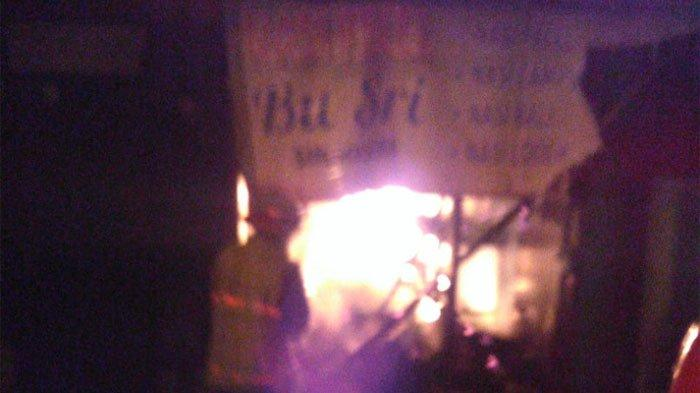 Warung Makan di Malang Ludes Terbakar, Pemilik Merugi Puluhan Juta karenaLupa Matikan Kompor