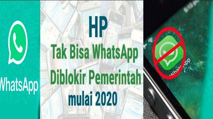 AWAS, Seminggu Lagi Mulai 1 Februari 2020 WhatsApp Tak Bisa Lagi Dipakai di HP Android dan iOS Jadul