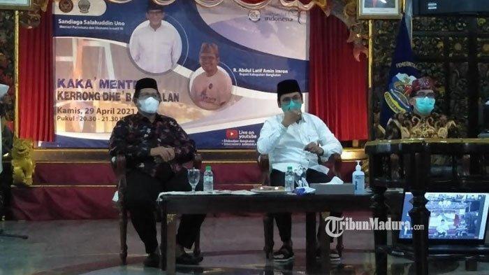 Sandiaga Uno Pastikan Bangkalan Masuk Deliniasi Kawasan Pengembangan Pariwisata dan Ekonomi Kreatif