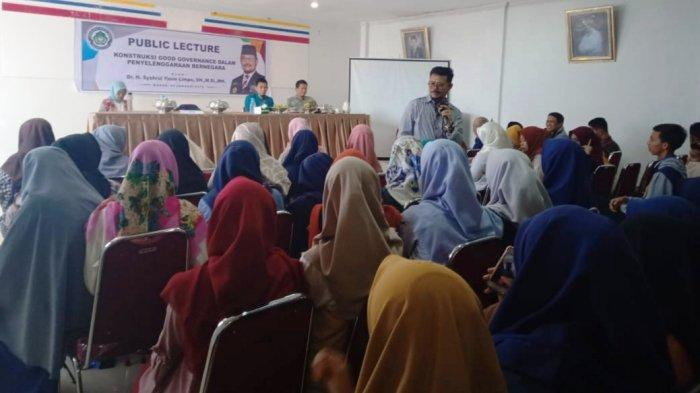 Bawakan Kuliah Umum di Universitas Muslim Maros, Syahrul Yasin Limpo Sampaikan Hal Ini ke Mahasiswa?
