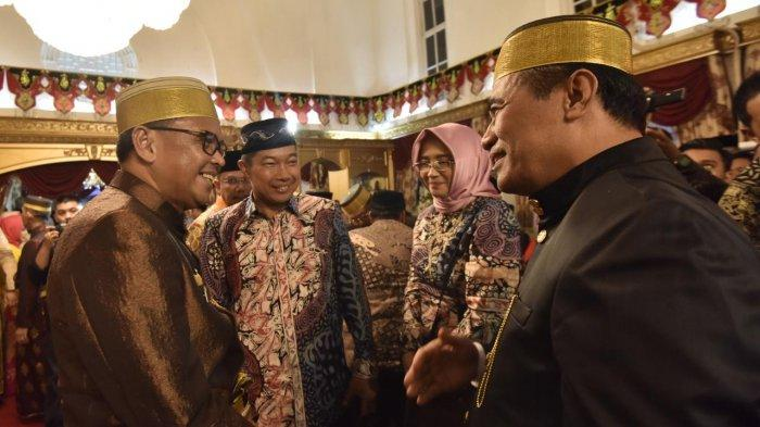 Jarang Terjadi! Acara Malam Mappacci Putra Nurdin Abdullah, Pertemukan SYL dan Amin Syam - 09012019_nurd.jpg