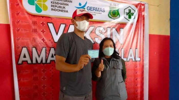 100 Pedagang di Pasar Sentral Pinrang Telah Divaksin