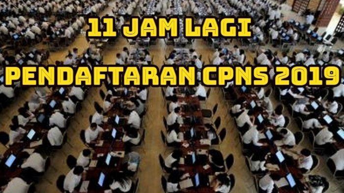 11 Jam Lagi Pendaftaran CPNS 2019, Kapan Link sscasn.bkn.go.id Bisa Diakses? Ini Jam Paling Ideal