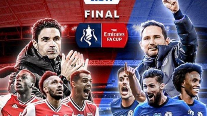 LINK Live Streaming Chelsea vs Arsenal Final Piala FA di RCTI Gelar Penyelamat Lampard atau Arteta