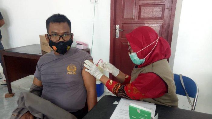460 Personel Polres Sidrap Terima Vaksinasi Covid-19 Dosis ke Dua