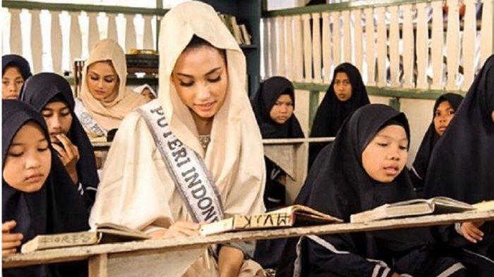 5 Fakta Frederika Alexis Cull: Miss Universe Muslim Pertama, Viral Video Nyaris Jatuh & Suka Anjing