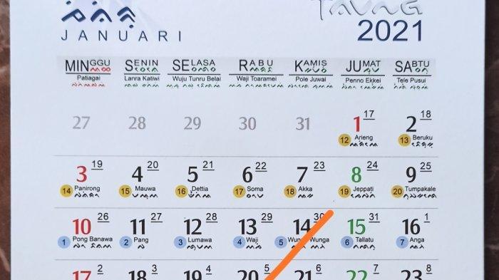 Inilah Kalender Bugis Makassar, 20 Januari 2021 M ini Bertepatan dengan 5 Nagai 351 B,Bacanya!