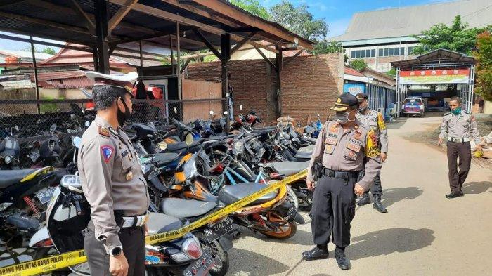 Selama Ramadhan, Polres Pangkep Amankan 74 Motor Hasil Balapan Liar
