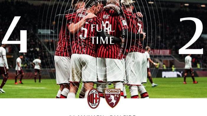 Singkirkan Torino, AC Milan Tantang Juventus di Semifinal Coppa Italia