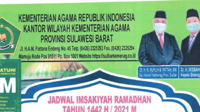 Jadwal Salat, Imsak dan Buka Puasa 2 Ramadan 1442 Hijriah Enam Kabupaten di Sulbar