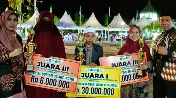 Wakili Gowa, Ahmad Rakhrurozi Juara 1 Hifzil 1 Juz dan Tilawah Putra di STQH Sulsel