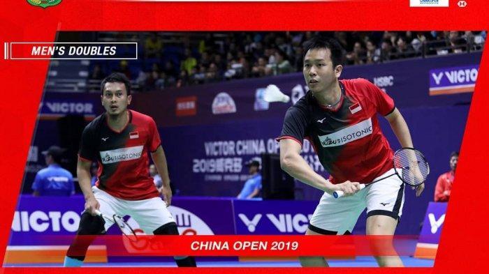 Ahsan/Hendra Tumbangkan Unggulan China, Tunggu Marcus/Kevin atau Fajar/Rian di Final China Open 2019
