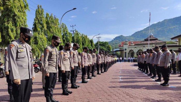 Turut Berduka, Kapolres Enrekang Pimpin Doa Bersama untuk Krew KRI Nanggala-402