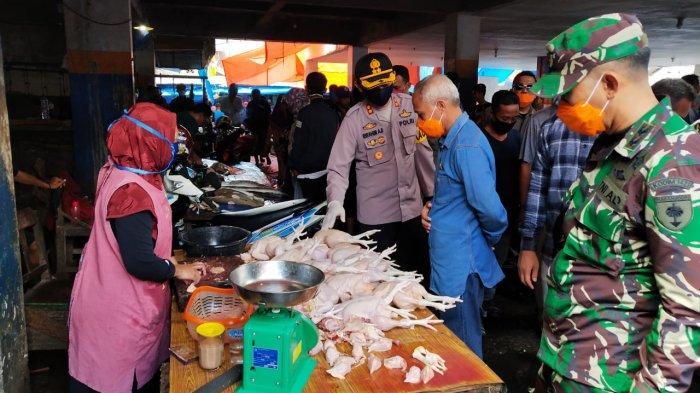 Jelang Ramadhan, Wabup Bersama Polres Pangkep Pantau Harga Sembako di Pasar Sentral