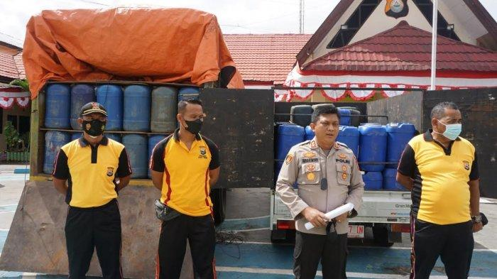 Polres Lutim Gagalkan Penjualan BBM Subsidi Premium 10.580 Liter & Solar 7.238 Liter Tujuan Morowali