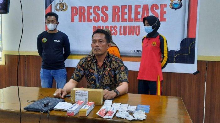 Belum Nikmati Sabu Asal Riau, Ibu Rumah Tangga Sudah Diringkus Polres Luwu