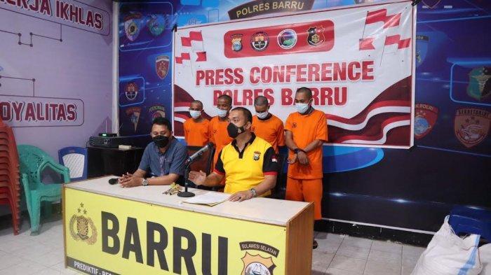 Beraksi di Barru, Empat Pencuri Asal Makassar Ditangkap di Pangkep