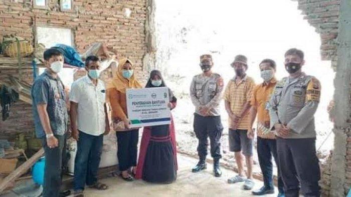 BPJS Kesehatan Cabang Watampone Bantu Korban Longsor di Sinjai, Sumbang Batu Bata, Pasir dan Semen
