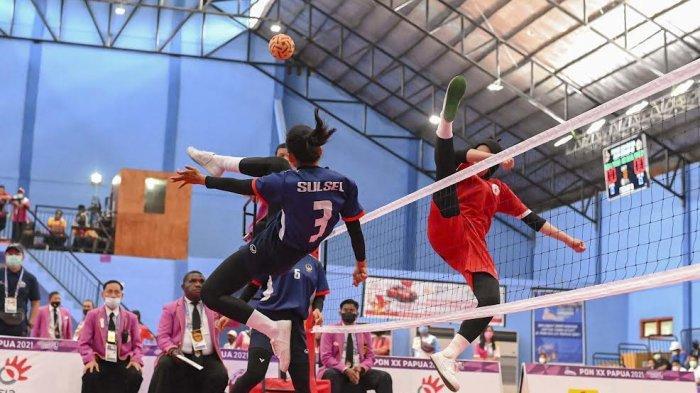 Kawinkan Medali Emas Nomor Quandrant, Sulsel Juara Umum Sepak Takraw PON XX Papua