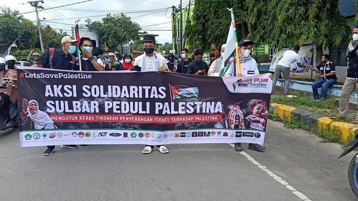 Warga Mamuju Galang Aksi Solidaritas Dukung Kemerdekaan Palestina