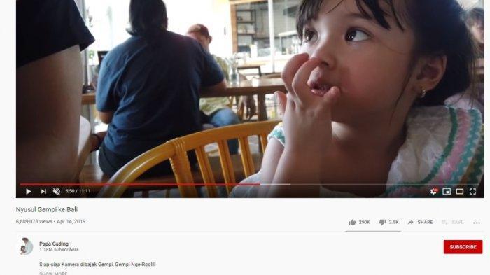 Aturan YouTube Berlaku, Kini Tak Ada Iklan & Komentar di Siaran Anak, Gimana Nasib Gempi dan Arsy?