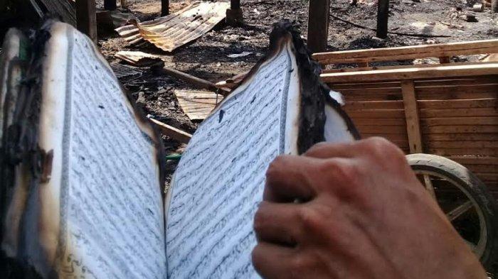 Kebakaran di Kassi Bumbung Jeneponto, Alquran Ini Tak Ikut Terbakar