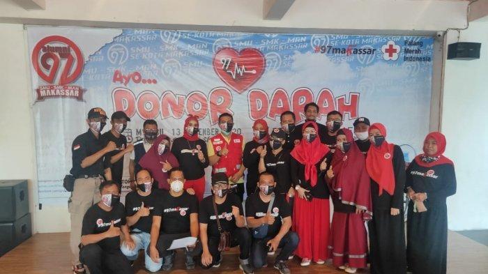 Gandeng PMI, Peserta Donor Darah Alumni 97 Makassar Membludak, Misinya Sehat Bersama