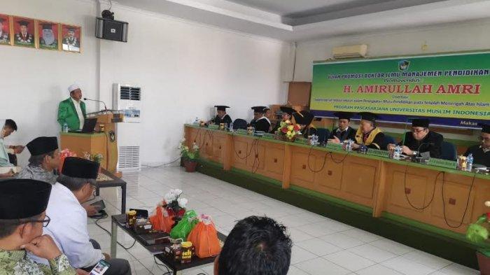 Teliti SMA Islam Athirah, Wakil Ketua NU Sulsel Amirullah Amri Raih Gelar Doktor di UMI