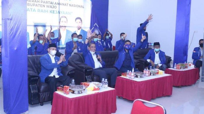 Aklamasi, Amran Mahmud Pimpin PAN Kabupaten Wajo Empat Periode