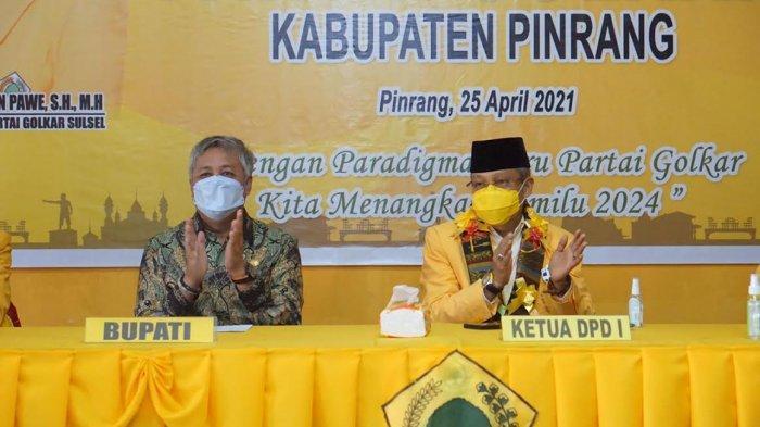 Buka Musda Golkar Pinrang, Taufan Pawe Sebut Bupati Pinrang Irwan Hamid Masih Kuning